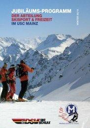 Das Fahrtenprogramm 2009/2010 als .pdf-Datei zum ... - USC Mainz