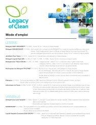 LESSIVE VAISSELLE Mode d'emploi - Amway