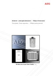 Leistungskondensatoren - AEG Industrial Engineering