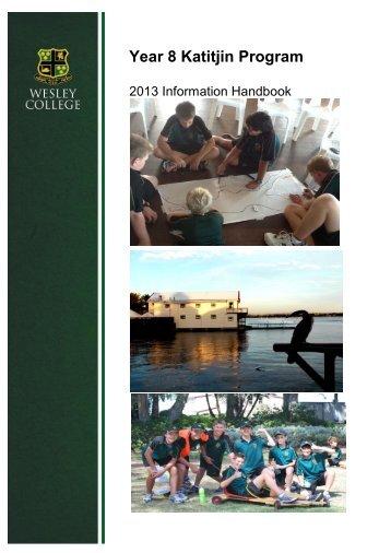 Katitjin 2013 Information Booklet - Wesley College