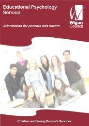 Educational Psychology Service - Wigan Schools Online