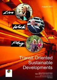 Transit Oriented Sustainable Developments - Department of ...