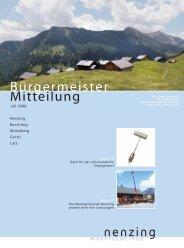 Bürgermeistermitteilung 08/02 - Marktgemeinde Nenzing