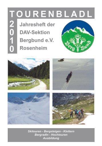 TOURENBLADL 2 0 1 0 - Sektion Bergbund Rosenheim