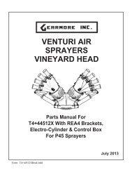 VENTURI AIR SPRAYERS VINEYARD HEAD