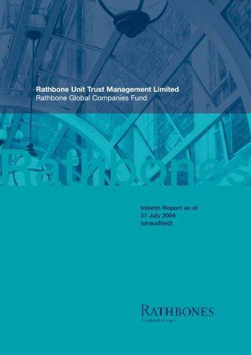 Rathbone Global Companies Fund - Rathbone Unit Trust ...