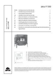 Manual de instalação - Jøtul stoves and fireplaces