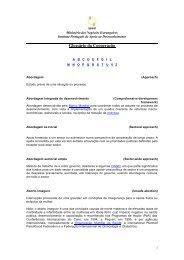 Glossário da Cooperação - Gabinete de Estratégia e Planeamento