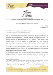 estructura ocupacional de la provincia de san luis Mónica ... - ASET