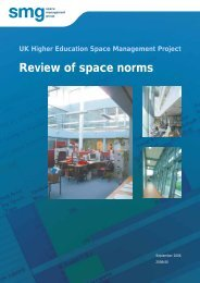 Review of space norms - Space Management Group