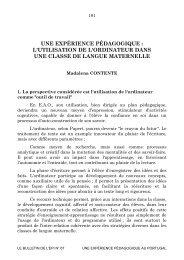 UNE EXPÉRIENCE PÉDAGOGIQUE : L ... - Archive-EduTice