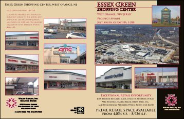 Essex Green Shopping center, west orange, nj - Welco Realty, Inc