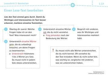 Einen Lese-Text bearbeiten - Buchhandel.de