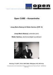 Josep-Maria Balanyà - Institut für Elektronische Musik und Akustik
