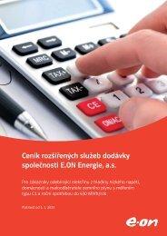 Ceník rozšířených služeb dodávky společnosti E.ON Energie, a.s.