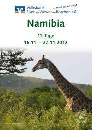 Namibia 12 Tage 16.11. – 27.11.2012 - Volksbank Elsen-Wewer-Borchen eG