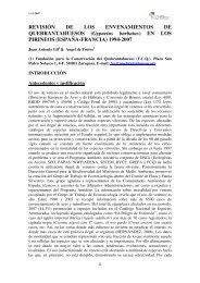 Veneno y conservación del quebrantahuesos - Fapas