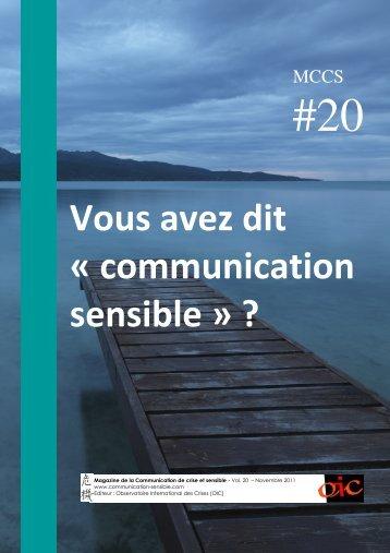 Vous avez dit « communication sensible » ? - Magazine de la ...