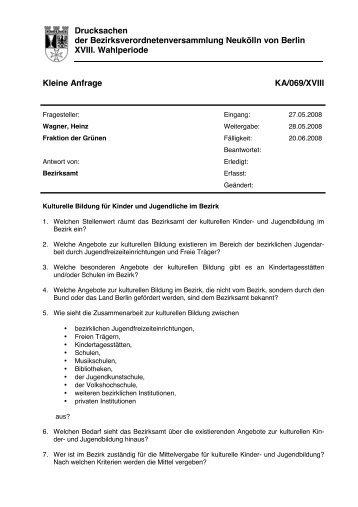 Die Anfrage inkl. Antwort und Anhang können Sie hier auch als PDF ...