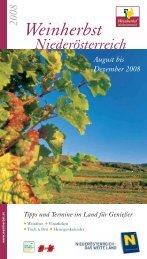Regelmäßige Veranstaltungen - Weinherbst Niederösterreich