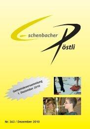 (keine Buttersäuresporen) kein Abfall - Gemeinde Eschenbach Luzern