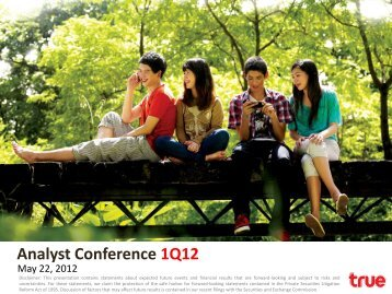 Analyst Conference 1Q12