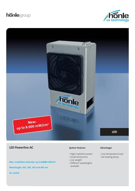 Product information LED Powerline AC - Dr. Hönle AG