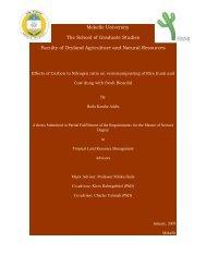 Mekelle University The School of Graduate Studies Faculty of ...