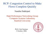RCP - High Performance Networking Group - Stanford University