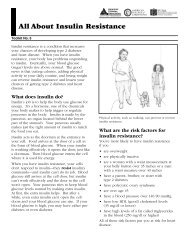 05 Insulin Resistance - American Diabetes Association