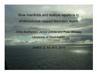 Slow manifolds and multiple equilibria in stratocumulus ... - cmmap