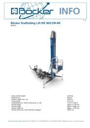 Böcker Scaffolding Lift HD 36G/2W-8H