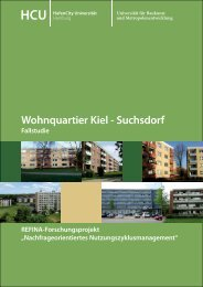 Wohnquartier Kiel - Suchsdorf - HafenCity Universität Hamburg