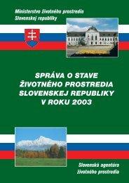 správa o stave životného prostredia slovenskej republiky v roku 2003
