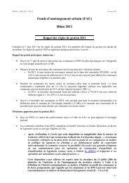 FAU Bilan 2011 - DRIHL Ile-de-France