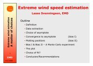 Extreme wind speed estimation