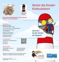 Leuchtturm Kinderonkologie - Große Hilfe für kleine Helden