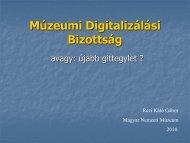 Múzeumi Digitalizálási Bizottság - Magyar Nemzeti Múzeum