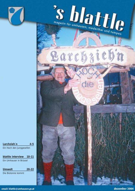 von Jänner bis Juni RESTMÜLL - Umhausen