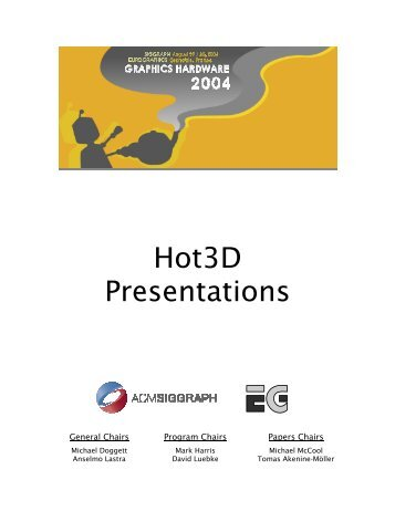 slides (pdf) - Graphics Hardware