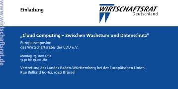 Einladung - Wirtschaftsrat der CDU e.V.
