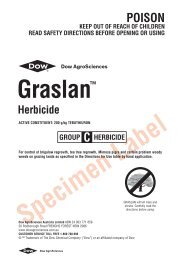 Graslan Herbicide label - Agtech.com.au
