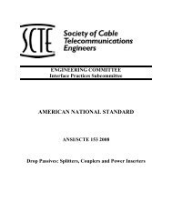 ANSI/SCTE 153 2008