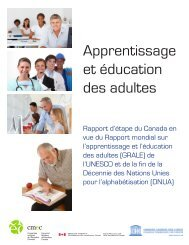 Rapport d'étape du Canada - La Commission canadienne pour l ...
