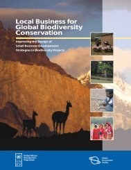 Local Business for Global Biodiversity Conservation - Ecosystem ...