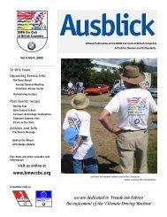 Ausblick - the BMW Car Club of British Columbia