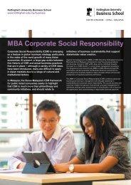MBA Corporate Social Responsibility - The University of Nottingham ...