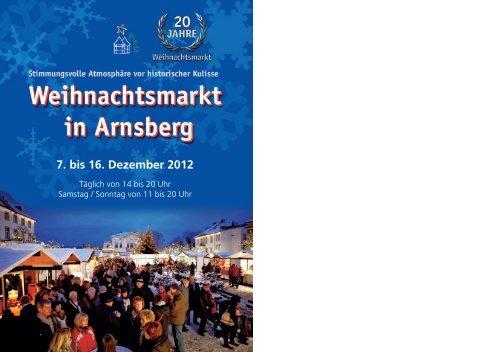 Weihnachtsmarktprogramm - Arnsberg