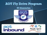 Summary of Fly-Drive itineraries – NZ - AOT Online