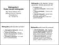 Bibliografie - Vědecká knihovna v Olomouci